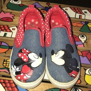 Toddler Girl Minnie & Mickey Mouse Shoes